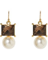 Vince Camuto - Stone & Faux Pearl Earrings - Lyst