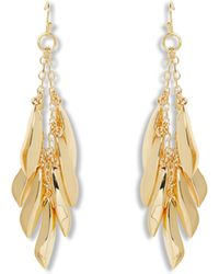 Vince Camuto - Goldtone Tropical Drop Earrings - Lyst