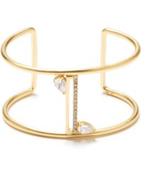 Vince Camuto - Goldtone Jeweled T-bar Cuff - Lyst