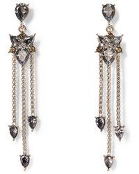 Vince Camuto - Silvertone Jewel-spike Chandelier Earrings - Lyst