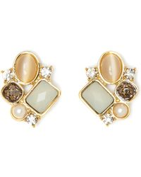 Vince Camuto - Mixed-gem Stud Earrings - Lyst