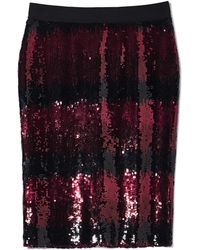 Vince Camuto - Sequin Ombré-striped Skirt - Lyst