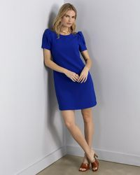 Vince Camuto Puff-sleeve Shift - Blue
