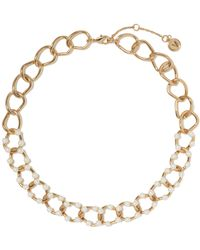 Vince Camuto - Faux Pearl-embellished Link Necklace - Lyst