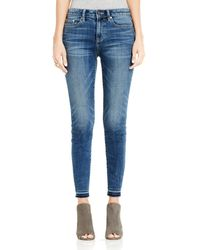 Vince Camuto Raw-edge Cropped Jeans - Blue