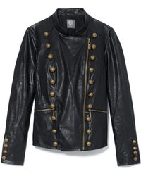 Vince Camuto - Faux Leather Military Jacket - Lyst