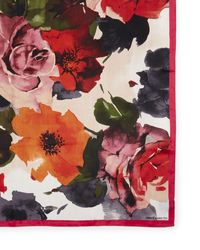 Vince Camuto Bloom-print Scarf - Pink