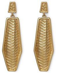 Vince Camuto - Herringbone Earrings - Lyst