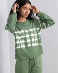 Vince Camuto Tie-dye-print Sweatshirt - Green