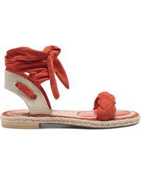 Vince Camuto Kastela Ankle-wrap Sandal - Red