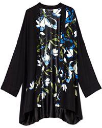 Vince Camuto Floral-print Kimono - Black