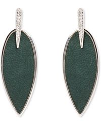 Vince Camuto - Green Feather Earrings - Lyst
