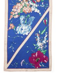 Vince Camuto Floral-print Panel Scarf - Blue