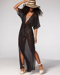 Vince Camuto Caftan Cover-up - Black