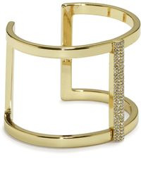 Vince Camuto - Goldtone Jewelled T-bar Cuff - Lyst