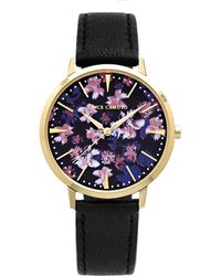 Vince Camuto - Floral-print Leather-band Watch - Lyst