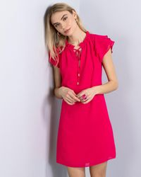 Vince Camuto Tiered-sleeve Shift - Pink