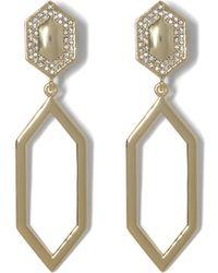 Vince Camuto - Goldtone Geo Drop Clip-on Earrings - Lyst