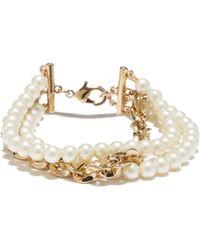 Vince Camuto - Faux Pearl & Chain Bracelet - Lyst