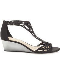 Vince Camuto - Imagine Jalen – Embellished Wedge Sandal - Lyst
