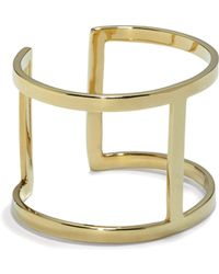 Vince Camuto - Goldtone T-bar Cuff - Lyst