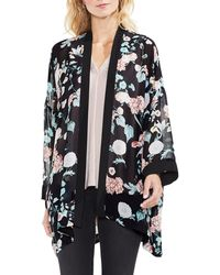 Vince Camuto - Floral-print Chiffon Kimono - Lyst