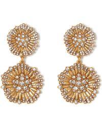 Vince Camuto - Double-flower Drop Earrings - Lyst