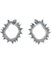 Vince Camuto - Silvertone Jewel-spike Wraparound Earrings - Lyst