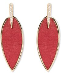 Vince Camuto - Red Feather Earrings - Lyst