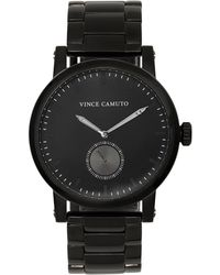 Vince Camuto - Gunmetal Link-band Subdial Watch - Lyst