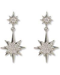 Vince Camuto - Silvertone Star Drop Earrings - Lyst