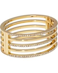 Vince Camuto - Goldtone Jeweled Cutout Cuff - Lyst