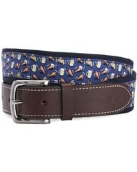 Vineyard Vines - Pizza, Wings & Beer Canvas Club Belt - Lyst