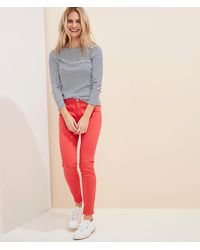 Vineyard Vines Jamie High-rise Garment-dyed Jeans - Red