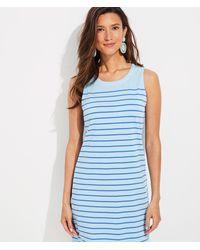 Vineyard Vines Over-dyed Striped Nantucket Shift Dress - Blue