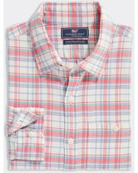 Vineyard Vines Slim Fit Plaid Shirt In Island Twill - Multicolor