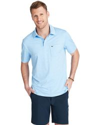 295435908b Vineyard Vines Caneel Bay Stripe Bowline Polo in Gray for Men - Lyst
