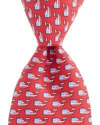 Vineyard Vines - Flag Whale Tie - Lyst
