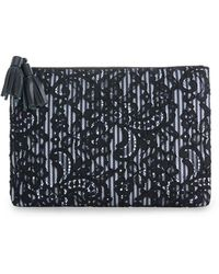 Vineyard Vines - Striped & Lace Clutch - Lyst