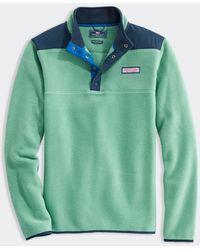 Vineyard Vines Harbor Fleece Shep Shirt Pullover - Green