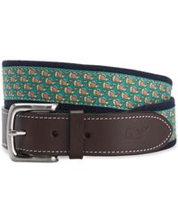Vineyard Vines - Football Whale Canvas Club Belt - Lyst