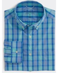 Vineyard Vines - Classic Fit Check On-the-go Shirt In Performance Brrr° - Lyst