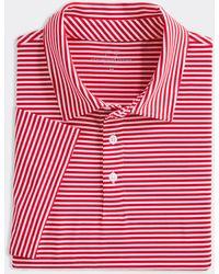 Vineyard Vines Blank Winstead Stripe Sankaty Polo Shirt - Red