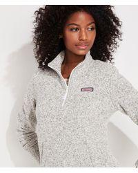 Vineyard Vines Sweater Fleece Relaxed Shep Shirt Pullover - Gray
