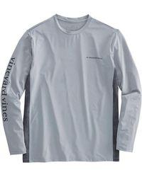 Vineyard Vines - Long-sleeve Performance Side Panel Fish Scale T-shirt - Lyst