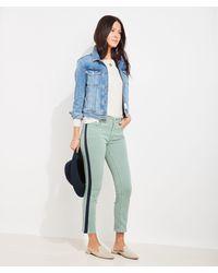 Vineyard Vines Limited-edition Jamie High-rise Straight Crop Side-stripe Jeans - Blue