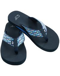 543016b7e85be Lyst - Vineyard Vines Patchwork Classic Flip Flops in Blue for Men