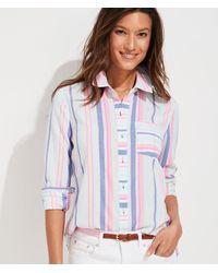 Vineyard Vines Boca Grande Stripe Chilmark Relaxed Button-down Shirt - Blue