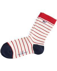 Vineyard Vines - Red & White Striped Socks - Lyst