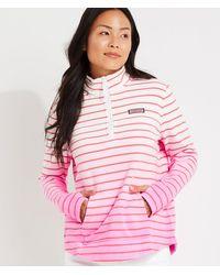 Vineyard Vines Dip-dyed Stripe Relaxed Shep Shirt Pullover - Pink
